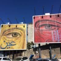 Palermo, arte negli spazi pubblicitari: ecco la rilettura del Cristo pantocratore