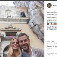 Palermo, Bossari e Lagerback in visita al santuario di Santa Rosalia