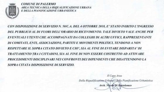 """Palermo, avviso negli uffici comunali per arginare """"favoritismi e raccomandazioni"""""""