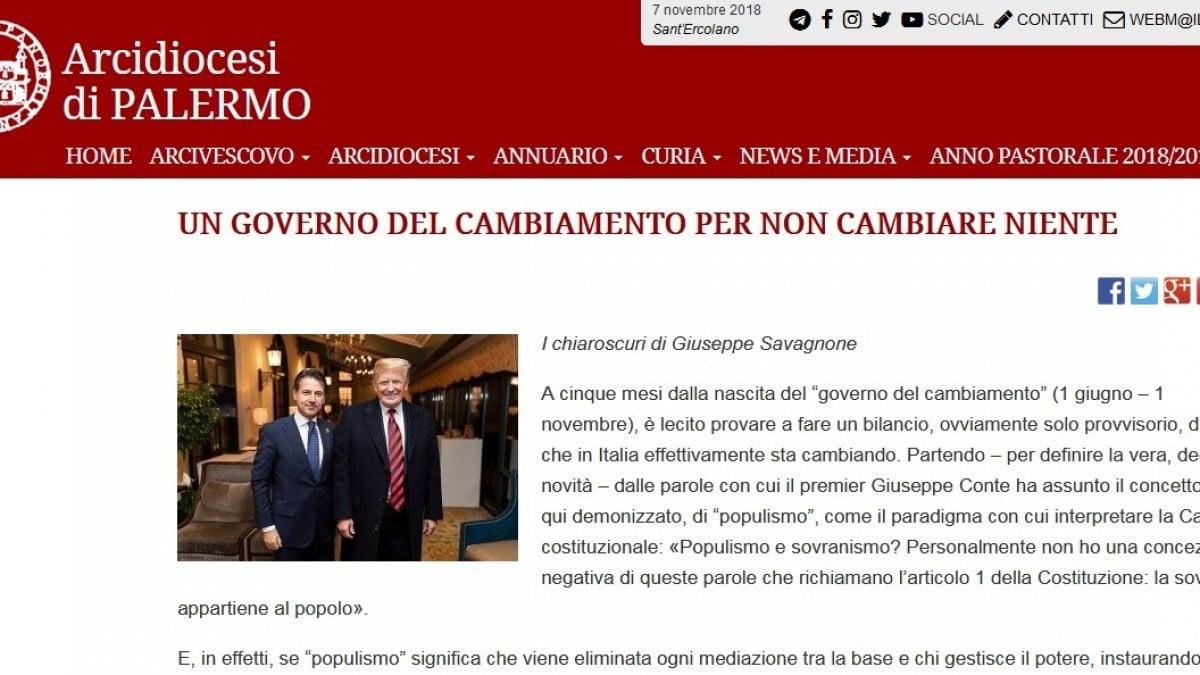Palermo l 39 attacco sul sito della diocesi il governo for Sito della repubblica