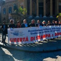 Palermo, giornalisti in piazza contro gli attacchi alla libertà di stampa