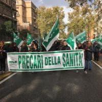Palermo, traffico in tilt in centro per il corteo organizzato dai precari