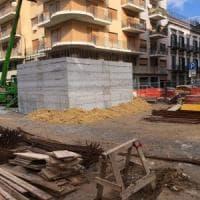 Palermo: cos'è quel blocco di cemento in strada? Il rebus sul cantiere