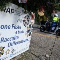 """Palermo, """"buona differenziata"""": ecco l'albero di Natale della Rap"""