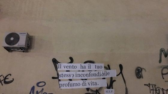 Palermo, sul muro spuntano dei versi: ecco il movimento per l'emancipazione della poesia