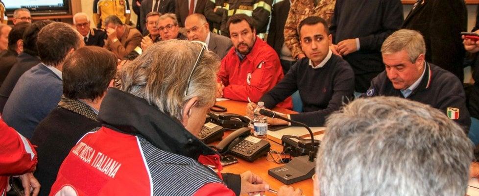 """Terremoto dell'Etna, Di Maio e Salvini: """"Bloccheremo i mutui, procedure più snelle"""""""