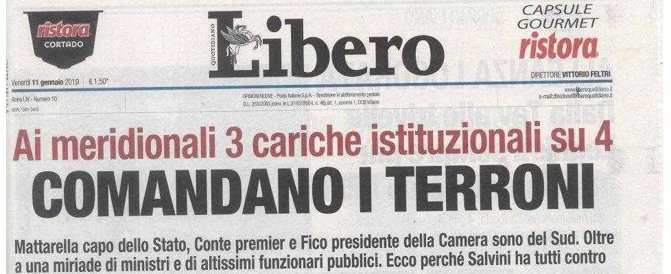 """Palermo, il sindaco Orlando protesta contro Libero: """"Titolo vergognoso"""""""
