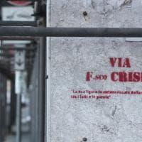 Palermo, anonimi all'attacco di Crispi: sui muri della via omonima i giudizi di Gramsci