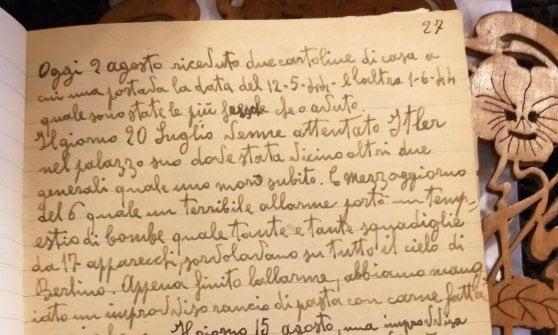 Medaglie d'onore ai deportati, il diario della prigionia di uno dei militari
