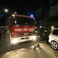 Palermo, esplosione in via Del Vespro a fuoco un negozio di fiori