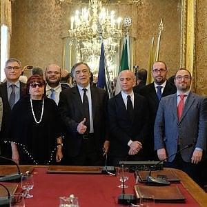Palermo, si insedia la nuova giunta: Orlando presenta la squadra che guarda al 2022