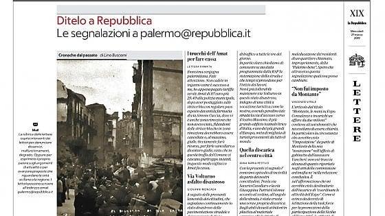 """Su """"Repubblica"""" Palermo una pagina per le lettere dei lettori"""