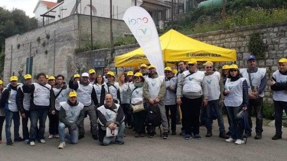 Palermo: al Santuario di Santa Rosalia Enel e Legambiente puliscono le aree verdi
