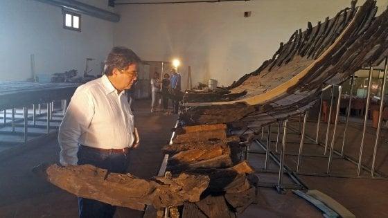 """Marsala, inaugurato il nuovo allestimento della nave romana: """"Un regalo di Tusa"""""""