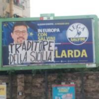 Palermo, insulto su un manifesto di Gelarda: scontro Lega-M5S