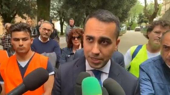 """Caltanissetta, Di Maio attacca la giunta Musumeci: """"Banditi politici che hanno massacrato Regione"""""""