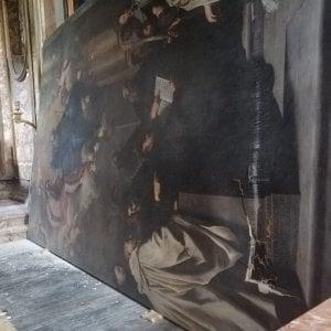 Palermo, tela di Novelli danneggiata da una caduta nell'abbazia di San Martino