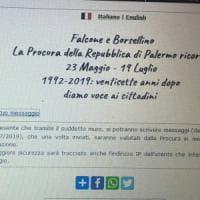 Palermo, sul sito della procura i messaggi dei cittadini in ricordo di Falcone