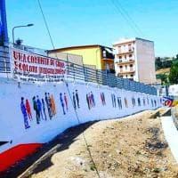 """Termini Imerese: """"People United"""", un murale contro i pregiudizi"""