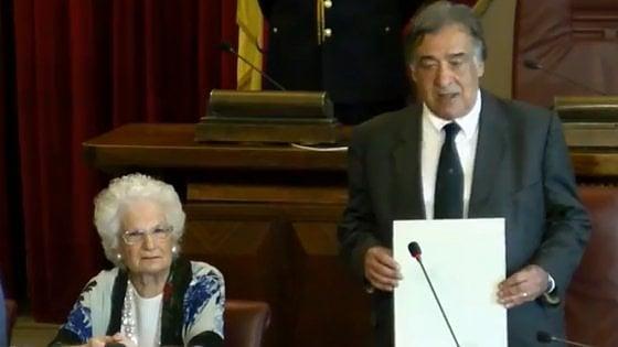 Palermo, cittadinanza onoraria alla senatrice a vita Liliana Segre