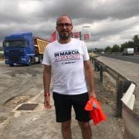 Da Ragusa a Catania a piedi, la marcia di Faraone per sbloccare i cantieri