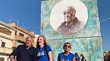 Il murales di Danilo Dolci al campo di Libera