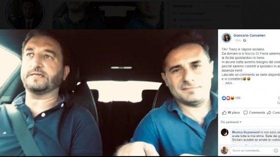 """""""Altro che Tav, investire nelle ferrovie siciliane"""": la protesta 5Stelle viaggia in treno"""