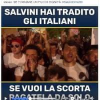 """Salvini hai tradito gli italiani, pagati tu la scorta"""". L'attacco del deputato M5s..."""