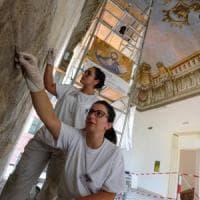 Palermo, scoperti affreschi al Malaspina durante il restauro