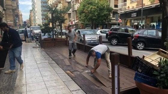 Palermo, caos dehors: c'è chi smonta per paura della multa