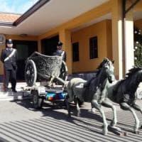 Catania, Biga bronzea di Morgantina trafugata e messa in vendita: blitz