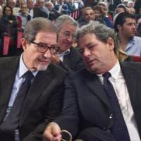 Governo Conte, alla manifestazione di Roma c'è Musumeci ma non Miccichè