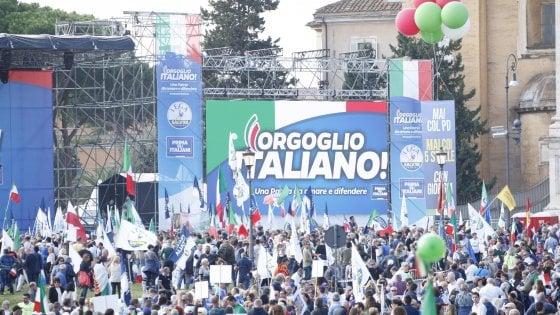 """Musumeci dal palco di Roma: """"Sicilia di nuovo un campo profughi, l'Europa cinica"""""""