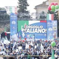 Musumeci dal palco di Roma: