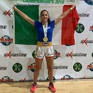 Clara D'Anna campionessa mondiale di kickboxing