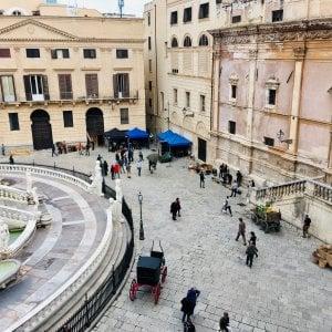 """Palermo, set in piazza Pretoria per """"La concessione del telefono"""""""