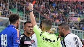 Ficarrotta squalificato per tre giornate   Trasferta di Palmi, ok ai tifosi rosanero
