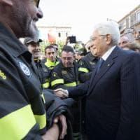 """Catania, il grazie di Mattarella ai vigili del fuoco: """"Abnegazione e impegno"""""""