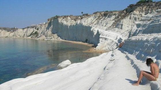 Agrigento, la Sicilia candida la Scala dei Turchi a patrimon