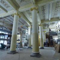 Il restauro che svela i decori nascosti dell'hotel delle Palme