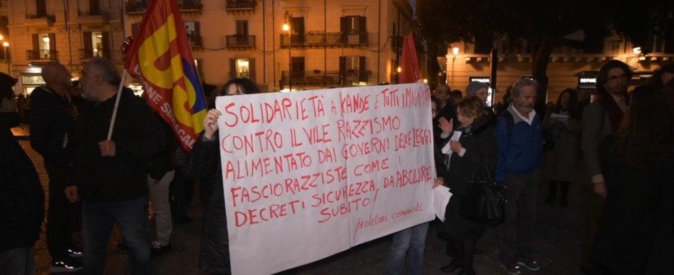 """""""Palermo non è razzista"""": manifestazione di solidarietà per il senegalese picchiato in centro"""