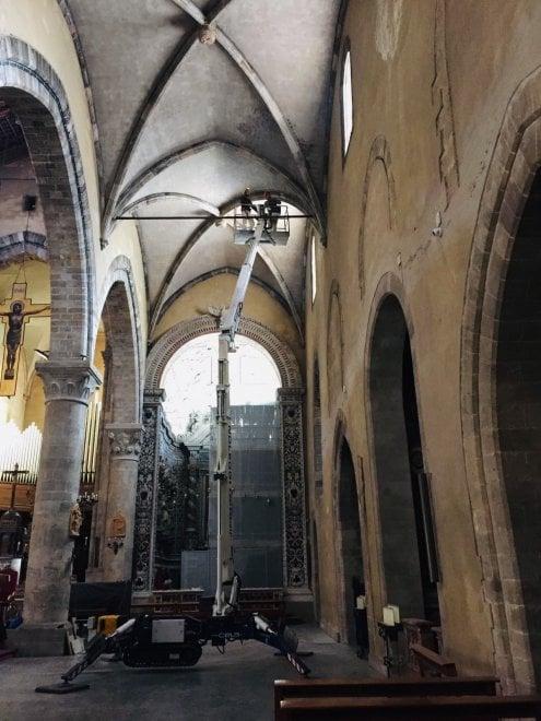 Palermo, restauri alla chiesa di San Francesco d'Assisi: torna alla luce il soffitto della prima crociera