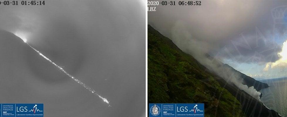 Eruzione Stromboli, il vulcano si risveglia: colata fino al mare alla Sciara del fuoco