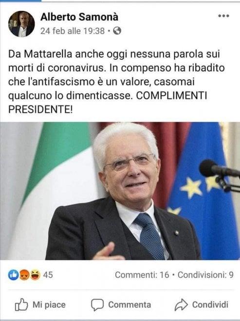 Omaggio a Dalle Chiaie e lo scherno a Mattarella: ecco i post di Facebook di Samonà, neoassessore ai Beni culturali