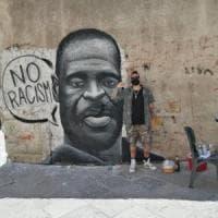 Palermo, un murale a Ballarò col volto di Floyd, l'uomo ucciso da un poliziotto