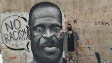 Un murale a Ballarò  col volto di Floyd simbolo antirazzista