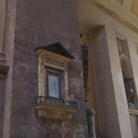 Palermo, le luminarie danneggiano l'edicola votiva di Porta Nuova