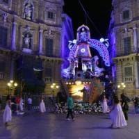 Il Festino di Palermo: niente bancarelle, tanti vigili urbani e un solo