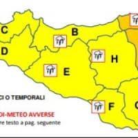 Sicilia, allerta meteo gialla: a Messina e Catania arancione