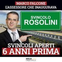 """A18 Sr-Gela, Falcone inaugura lo svincolo di Rosolini. I Cinque Stelle attaccano: """"Aperto da sei anni"""""""
